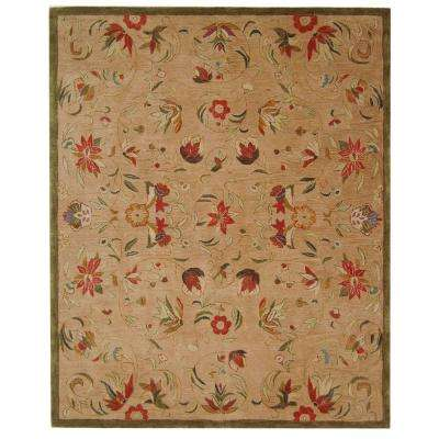 Anatolia Beige/Green 9 ft. 6 in. x 13 ft. 6 in. Area Rug