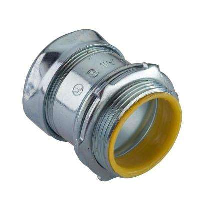 1 in. Electrical Metallic Tube (EMT) Compression Connector with Insulated Throat