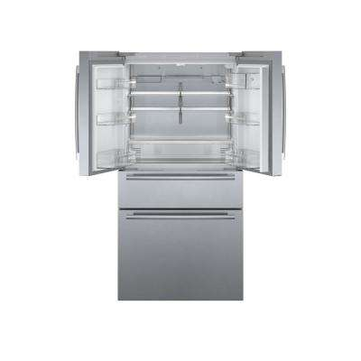 800 Series 36 in. 21 cu. ft. French Door Refrigerator in Stainless Steel with 4 Doors, Counter-Depth