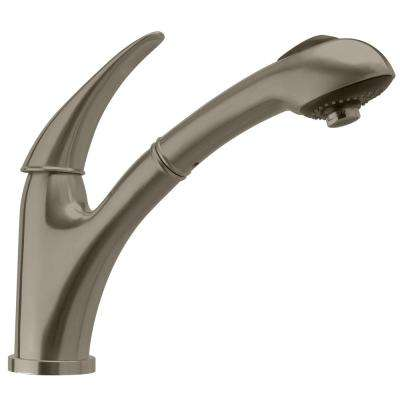 Waterhaus Single-Handle Pull-Out Sprayer Kitchen Faucet in Brushed Stainless Steel