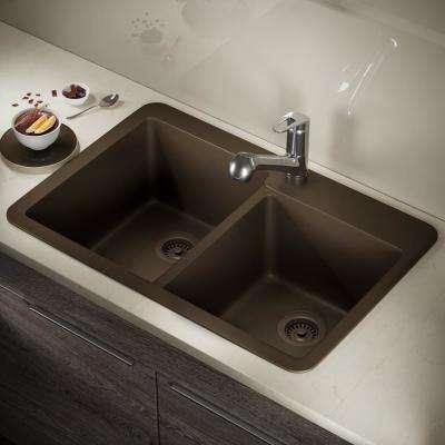 granite quartz composite dark brown kitchen sinks kitchen rh homedepot com