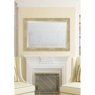 30 in. x 42 in. Framed Pearl and Gold Mirror