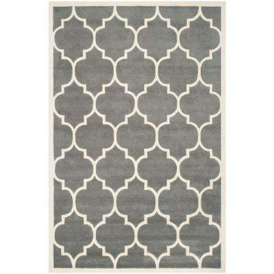 Chatham Dark Grey/Ivory 5 ft. x 8 ft. Area Rug