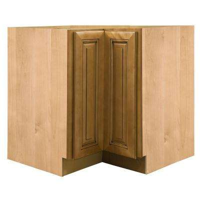 36x34.5x24 in. Lewiston Assembled Easy Reach Corner Cabinet in Toffee Glaze