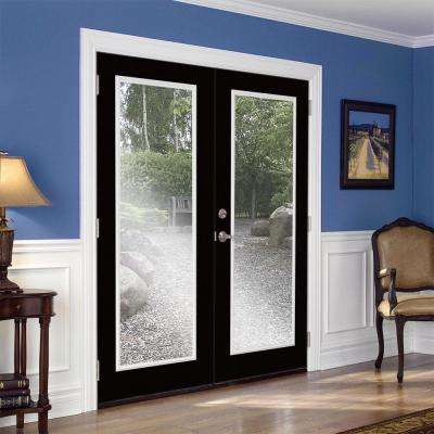 Prehung Full Lite Steel Patio Door with No Brickmold in Vinyl Frame