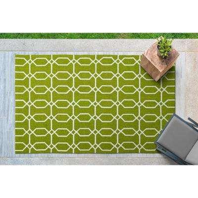 Escape Green 9 ft. x 12 ft. Indoor/Outdoor Area Rug