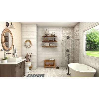 River Rock Rain 12 in. x 12 in. x 12.7 mm Natural Stone Pebble Mosaic Floor and Wall Tile (10 sq. ft. / case)