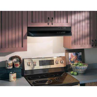 40000 Series 30 in. Under Cabinet Range Hood with Light in Black