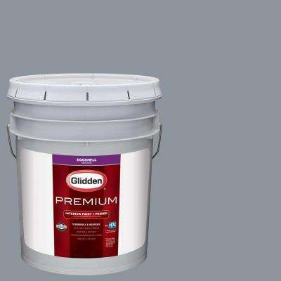 5 gal. #HDGCN40D Winter's Blue Grey Sky Eggshell Interior Paint with Primer