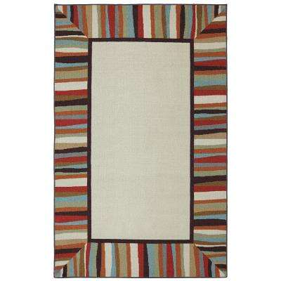 Patio Border Rainbow 7 ft. 6 in. x 10 ft. Area Rug