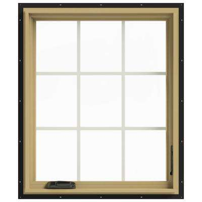 30 in. x 36 in. W-2500 Right-Hand Casement Aluminum Clad Wood Window
