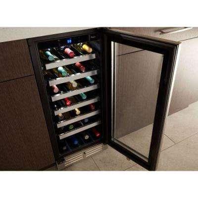34-Bottle Undercounter Wine Center in Stainless Steel
