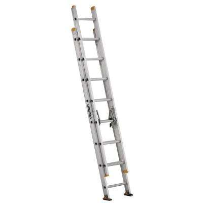 16 ft. Aluminum Extension Ladder with 250 lbs. Load Capacity Type I Duty Rating