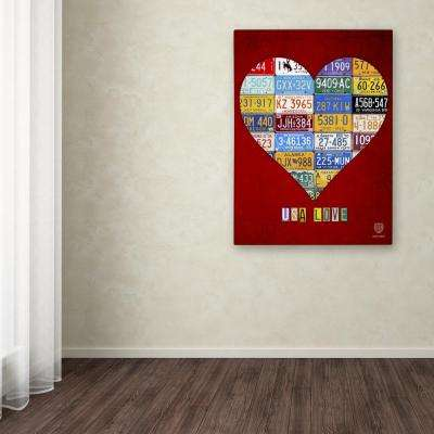 "47 in. x 35 in. ""Heart"" by Design Turnpike Printed Canvas Wall Art"