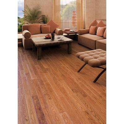 Hand Scraped Oak Gunstock 1/2 in. T x 4-3/4 in. W x Varying Length Engineered Hardwood Flooring(24.94 sq. ft. / case)