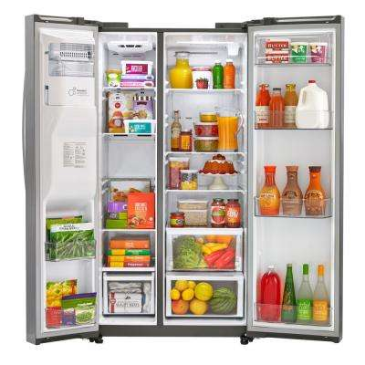 26.2 cu. ft. Side-by-Side Refrigerator in Stainless Steel