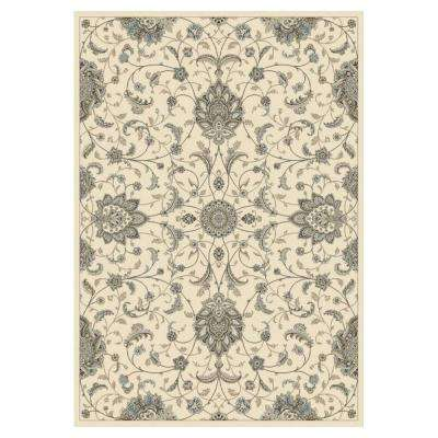 Elegance Ivory/Grey 7 ft. 10 in. x 11 ft. 2 in. Area Rug