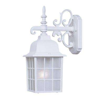 Nautica Collection 1-Light Textured White Outdoor Wall-Mount Light Fixture