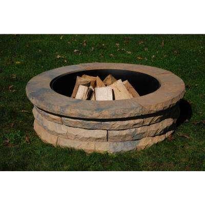 Ledgestone 47 in. Concrete Fire Pit Ring Kit Tan Variegated