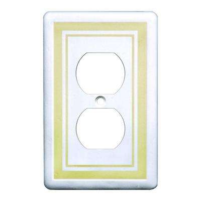 1 Duplex Outlet Plate, Beige