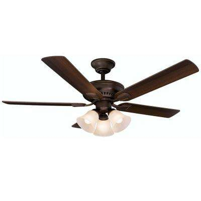 Campbell 52 in. Mediterranean Bronze Ceiling Fan with Remote Control