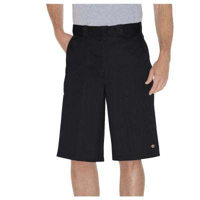 Men's 13 in. Black Multi-Use Pocket Work Short Pant