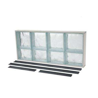 Glass Block Window Wave Pattern Solid NailUp2