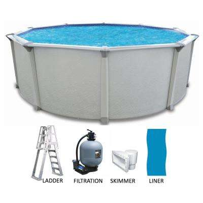 Round 54 in. Deep Hard Sided Above Ground Pool Package