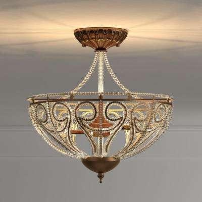 Drake Modern Roman 3-Light Antique Bronze Indoor Chandelier with Shade