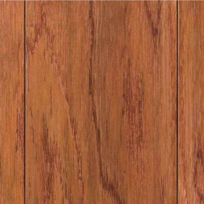 Hand Scraped Oak Gunstock 3/8 in. T x 4-3/4 in. W x Varying Length Click Lock Hardwood Flooring(24.94 sq. ft. / case)