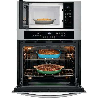 30 in. Electric True Convection Wall Oven with Built-In Microwave in Stainless Steel