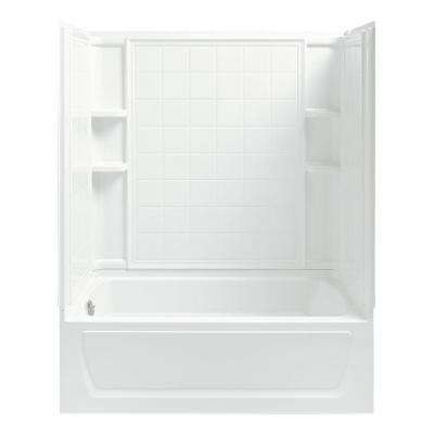 Ensemble 32 in. x 60 in. x 74 in. Bath and Shower Kit with Left-Hand Drain inWhite