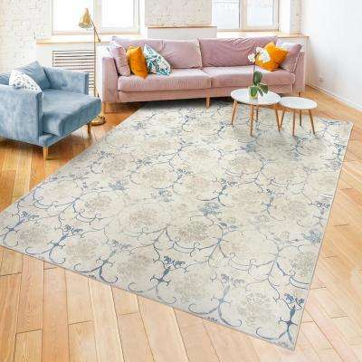 Washable Leyla Creme 8 ft. x 10 ft. Stain Resistant Area Rug