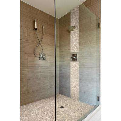 Sliced Pebble Earth 12 in. x 12 in. x 10mm Tumbled Marble Mesh-Mounted Mosaic Tile (9.7 sq. ft./case)