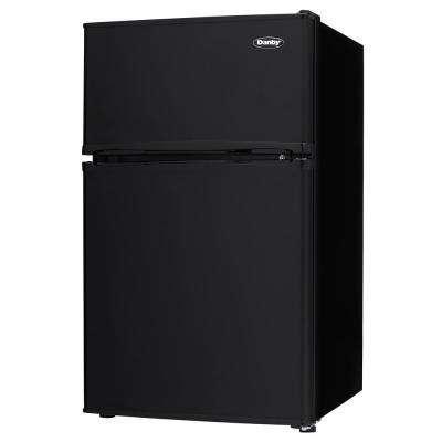 3.2 cu.ft. 2-Door Mini Refrigerator in Black