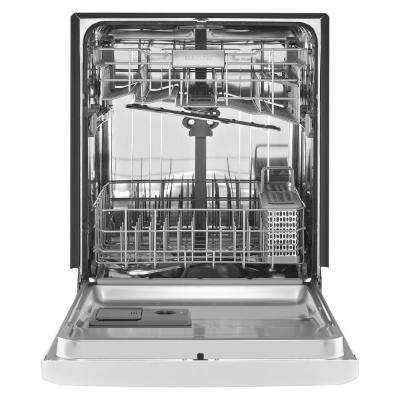 Front Control Built-In Tall Tub Dishwasher in White, 50 dBA