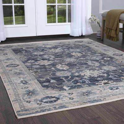 Ridgefield Navy/Ivory 2 ft. 2 in. x 7 ft. 2 in. Indoor Area Rug