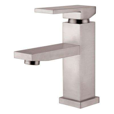 Single Hole 1-Handle Lavatory Faucet in Brushed Nickel