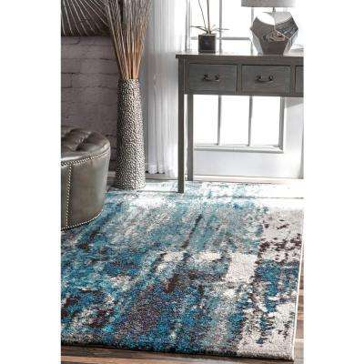 Abstract Haydee Blue 8 ft. x 10 ft. Area Rug