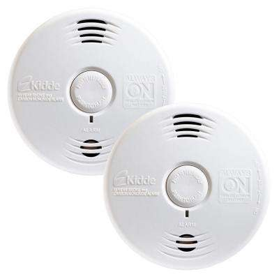 Twin Pack Worry Free 10 Year Combination Alarm with Voice