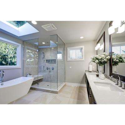 Slim Profile LED Panel 110 CFM Ceiling Bathroom Exhaust Fan
