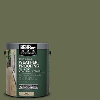 1 gal. #SC-138 Sagebrush Green Solid Color Weatherproofing All-In-One Wood Stain and Sealer