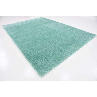 Luxe Solo Seafoam Green 8' 0 x 11' 4 Area Rug