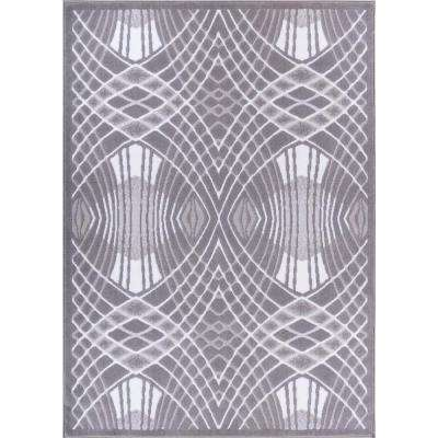 Dulcet Cool Runnings Grey 9 ft. 3 in. x 12 ft. 6 in. Modern Area Rug