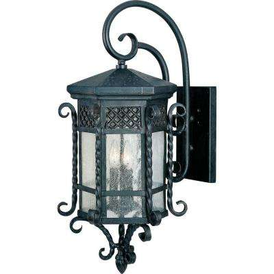 Scottsdale 3-Light Country Forge Outdoor Wall Mount