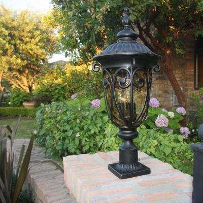 Hailee 3-Light Outdoor Oil-Rubbed Bronze Post Light