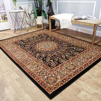 Pasha Collection Black 5 ft. x 7 ft. Area Rug