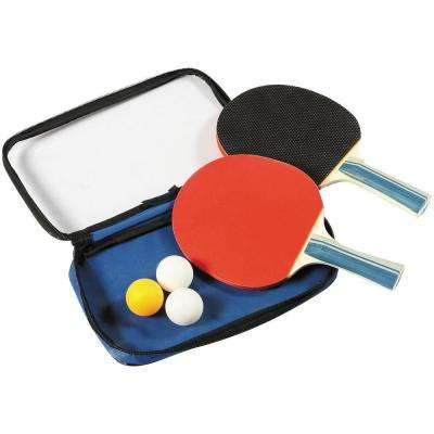2-Player Control Spin Table Tennis Racket and Ball Set