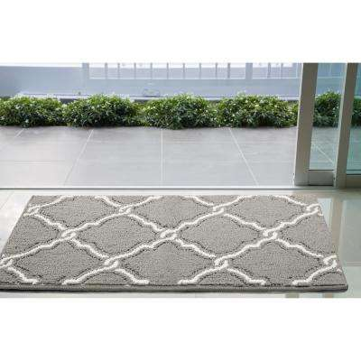Yohan 32 in. x 56 in. Loop Accent Rug, Grey/Soft White