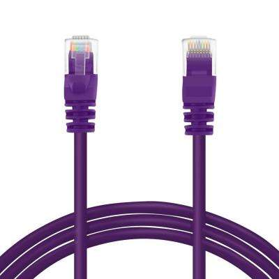 30 ft. Cat6e Ethernet LAN Network Patch Cable - Purple (10-Pack)
